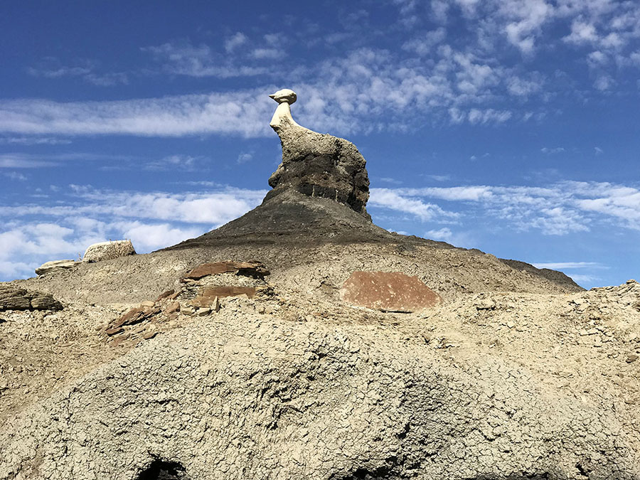 A photo of the pinnacle I was looking for at Bisti.