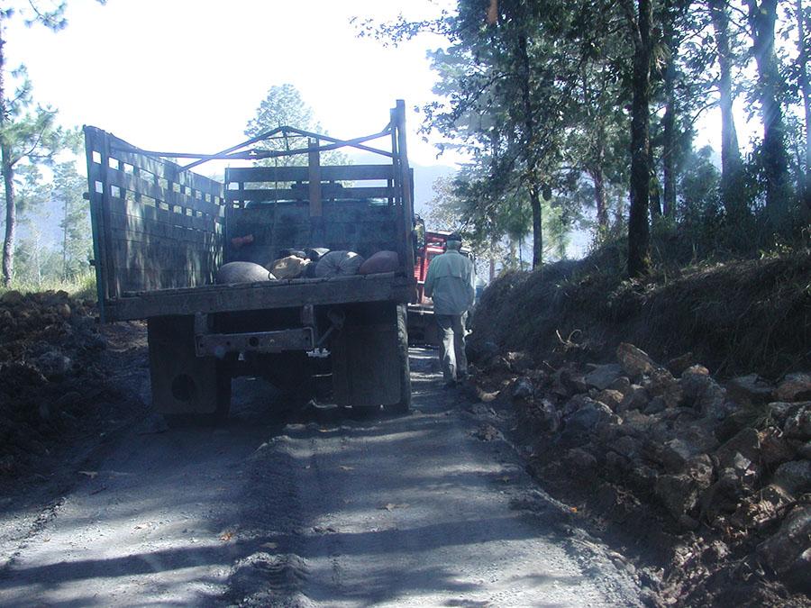 Roadblock in Guatemala