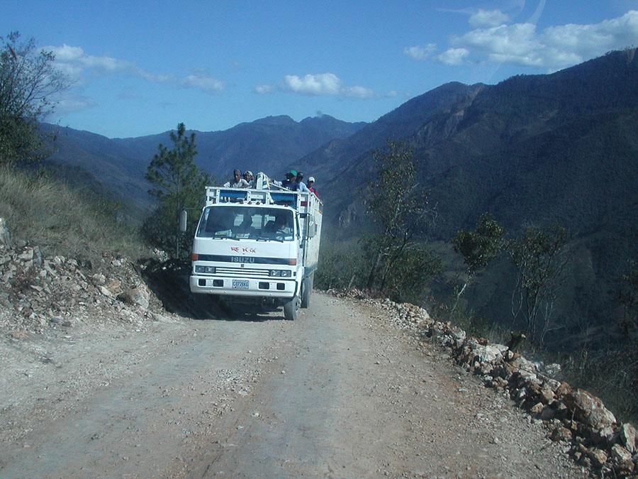 Sketchy mountain roads in Guatemala.