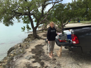 Cooking out at Mile Marker 68 in the Florida Keys.