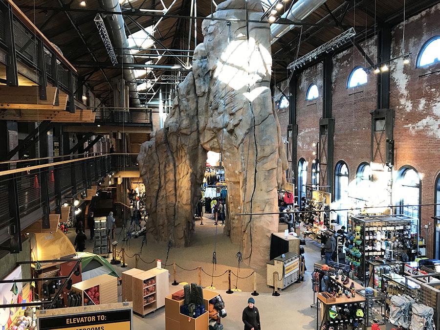 REI's flagship store in Denver - December 2017.