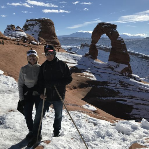 Hiking Delicate Arch in Arches National Park, Utah - Winter 2017