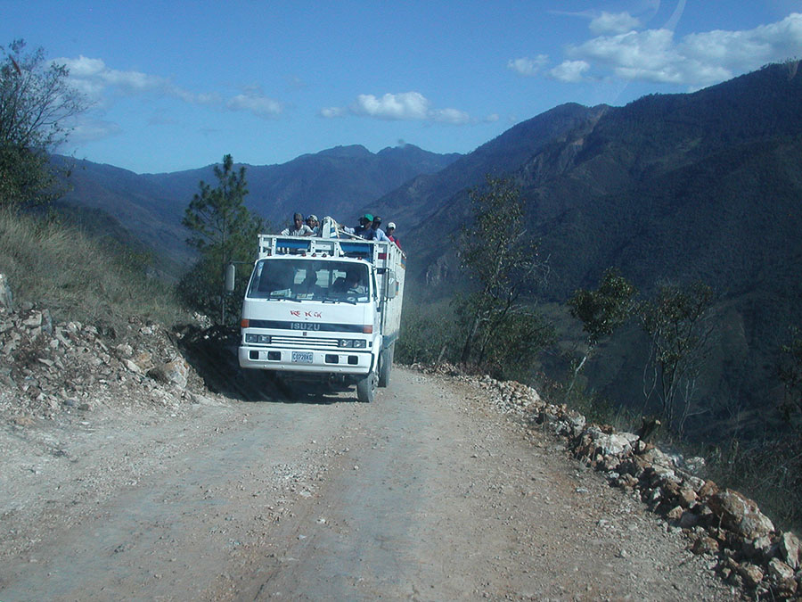 Sketchy mountain roads in Guatemala.