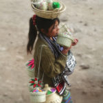 Young girl selling baskets in Northern Guatemala - 2009.