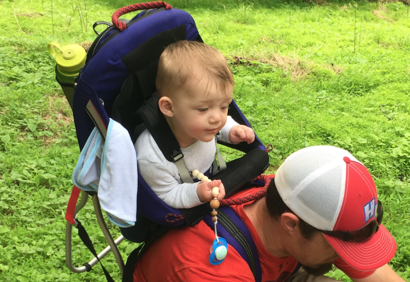 8 month old Everett goes hiking